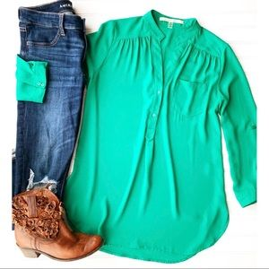 Tops - 41 Hawthorn Emerald Popover | size M